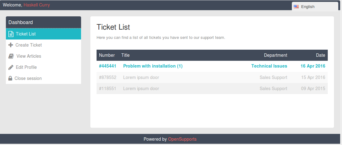OpenSupports - Open Source Support Ticket System